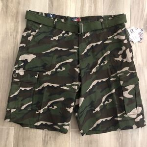 LR Scoop Sz 46 Camouflage Cargo Shorts New Tags